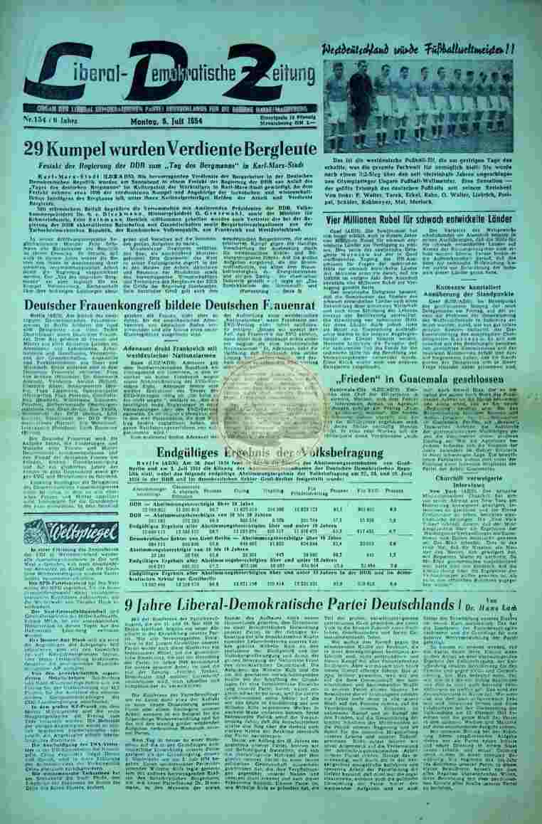 1954 Juli 5. Liberal Demokratische Zeitung