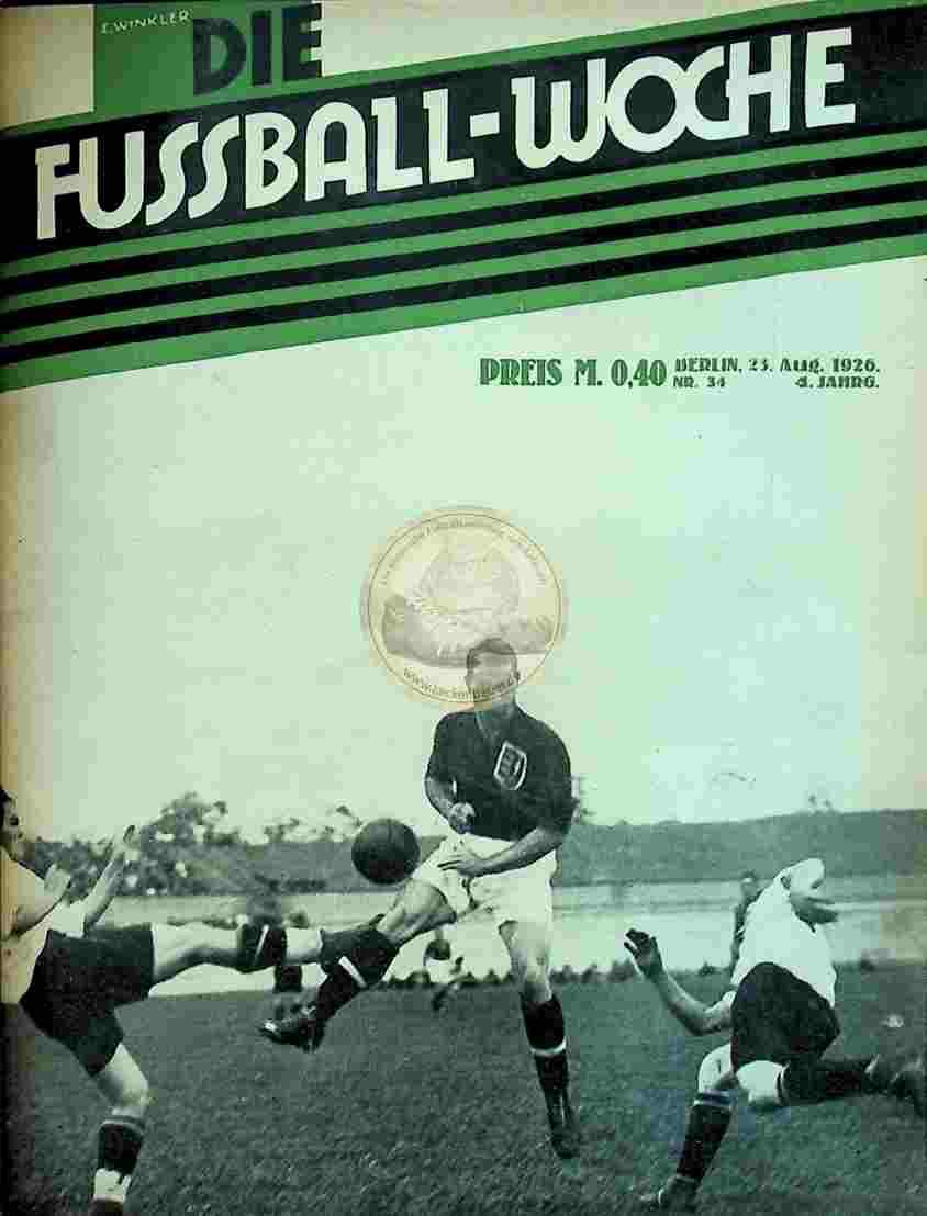 1926 August 23. Fussball-Woche Nr. 34
