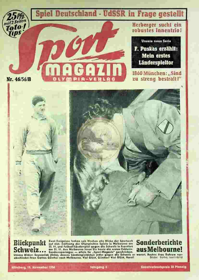1956 November 15. Sport Magazin Nr. 46