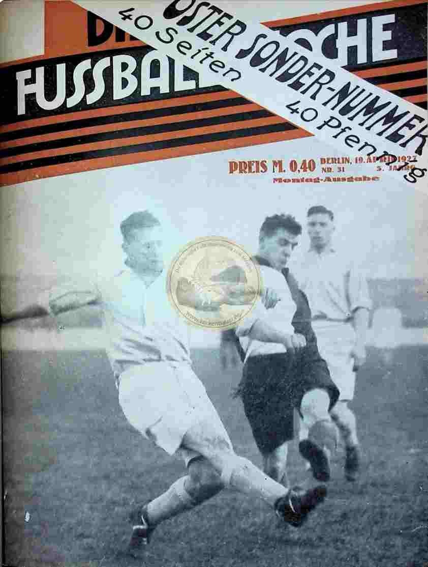 1927 April 19. Fussball-Woche Nr. 31