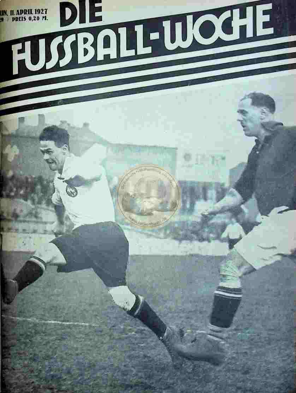 1927 April 11. Fussball-Woche Nr. 29