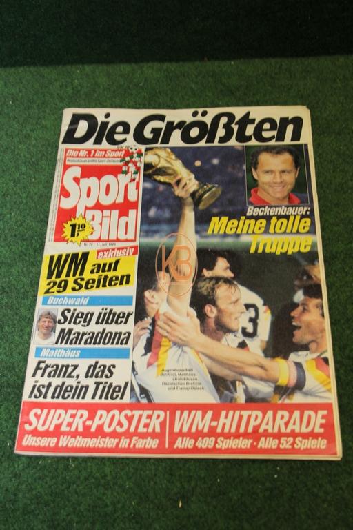 Sportbild nach dem Weltmeisterschaftssieg 1990 in Italien