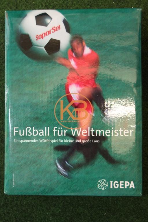 Fußball für Weltmeister, ein spannendes Würfelspiel für kleine und große Fans von Igepa
