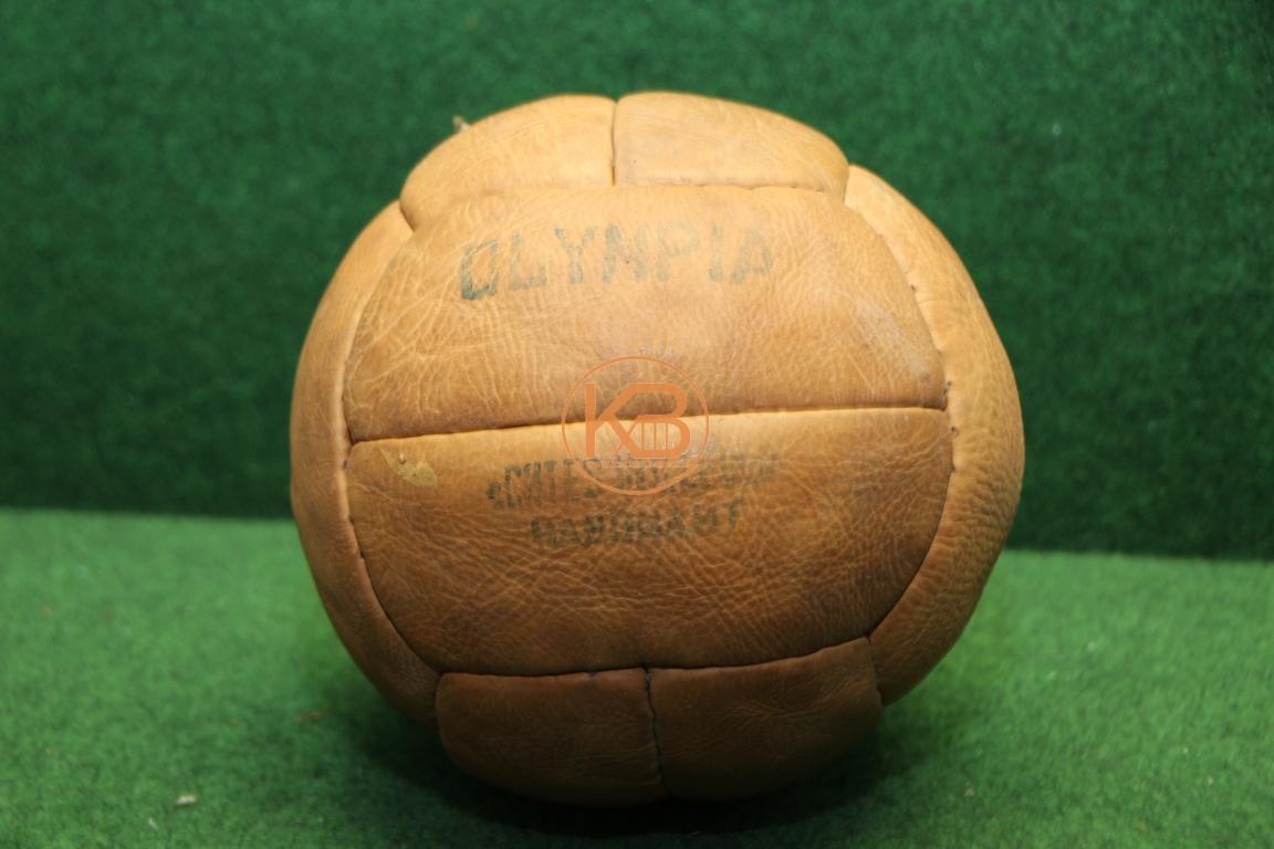 Alter Olymp Fußball aus Leder vermutlich aus den 1940ern