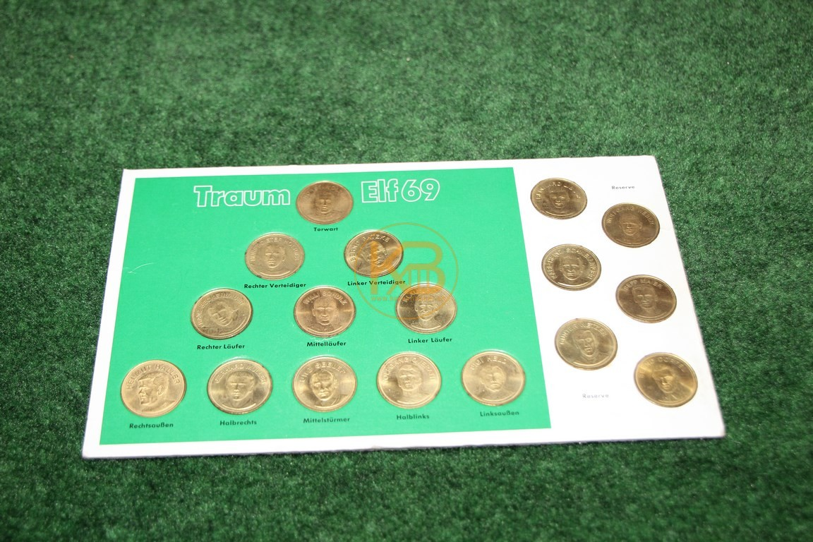 Sammelmünzen Traumelf 69 im 2/3/4 System