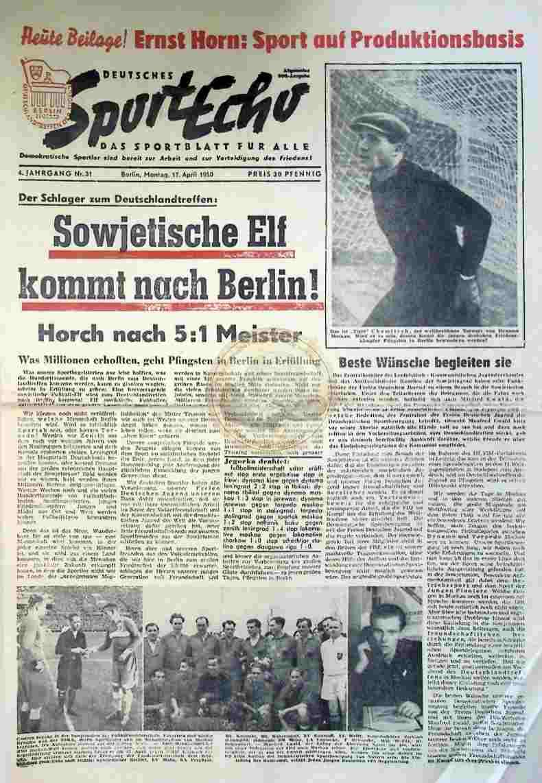 1950 April 17. Sportecho Nr. 31