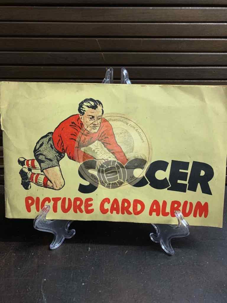 Soccer Picture Card Album aus England im Jahr 1957 von Bubble Gum