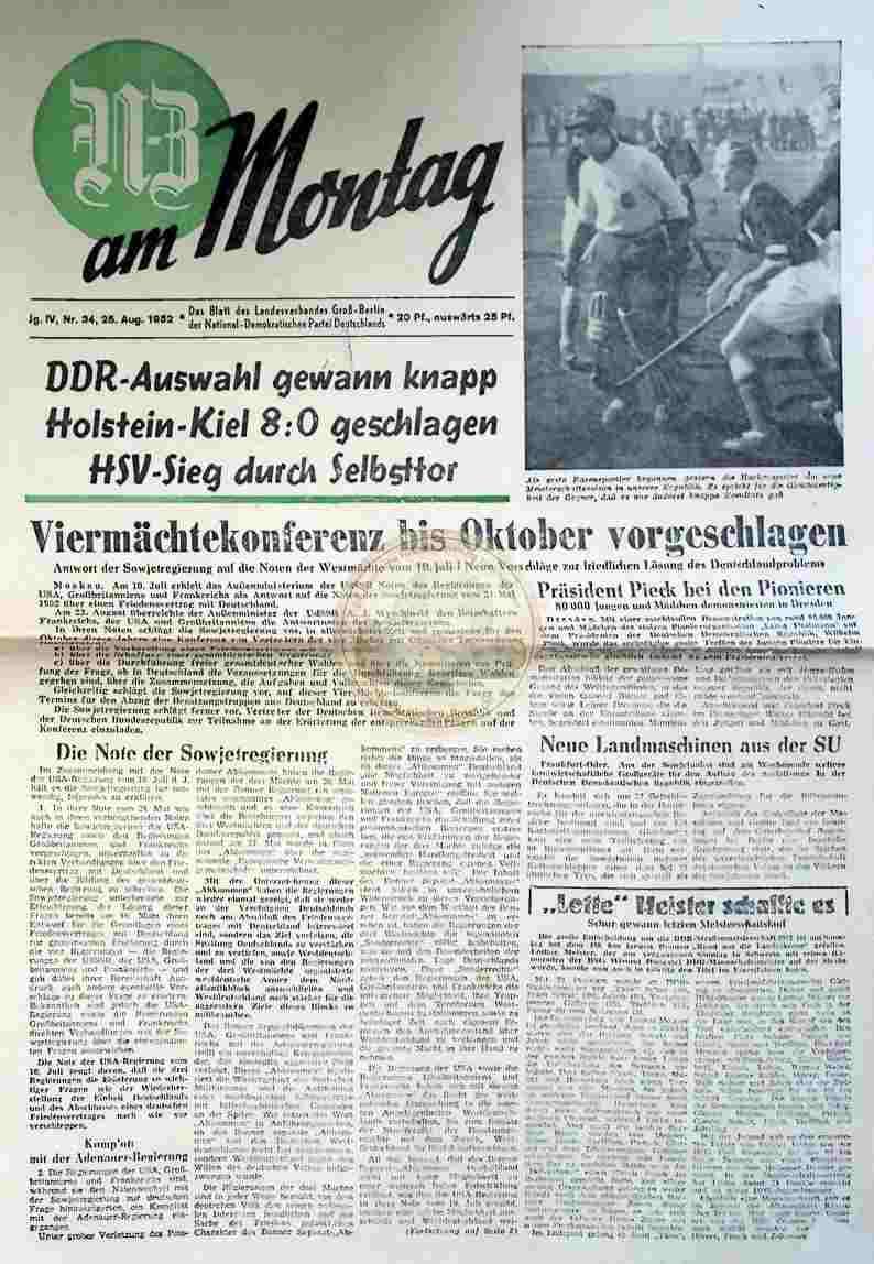 1952 August 25. GB am Montag Nr.34