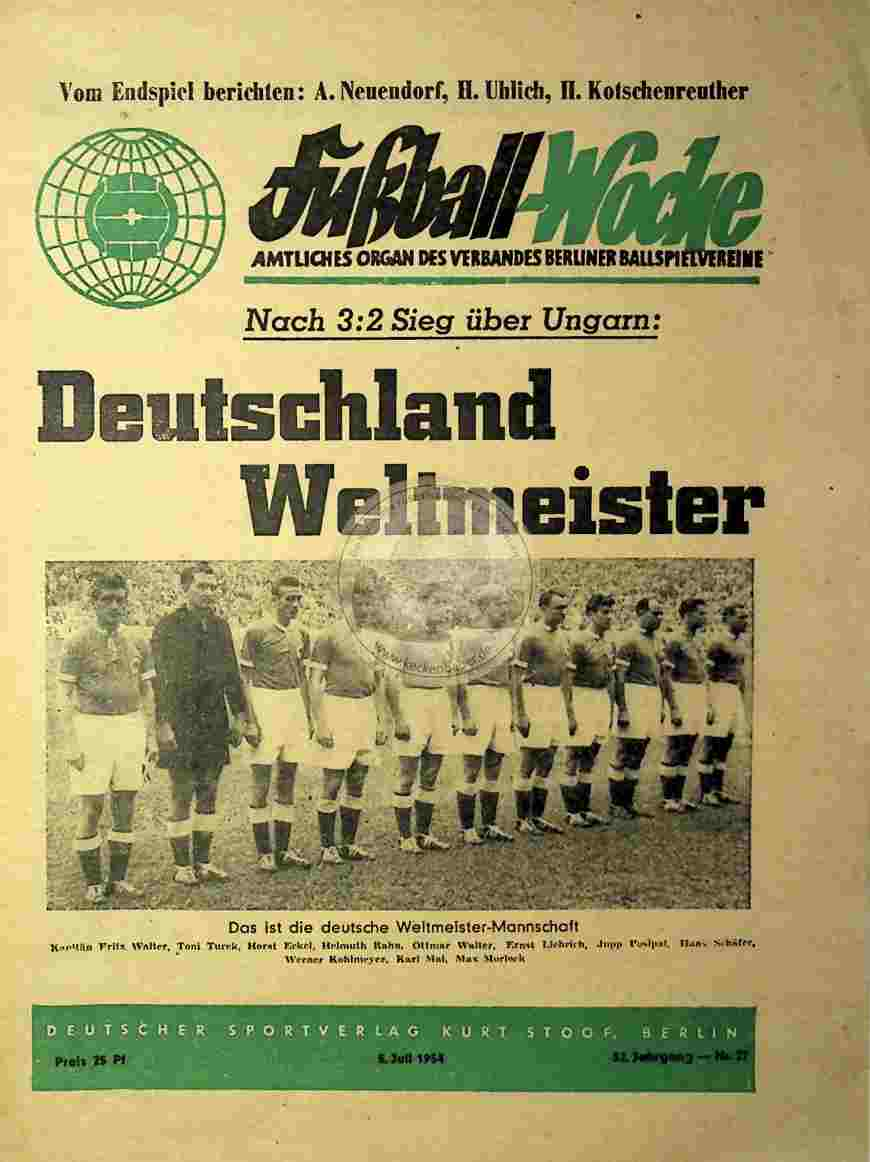 1954 Juli 5. Fußball-Woche Nr.27