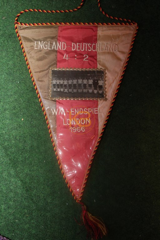 Fußballwimpel zum Weltmeisterschaftsfinale 1966 in Wembley