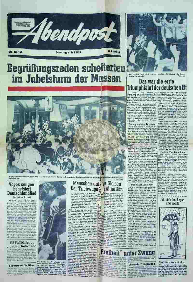 1954 Juli 6. Abendpost Seiten 1+2+5+6