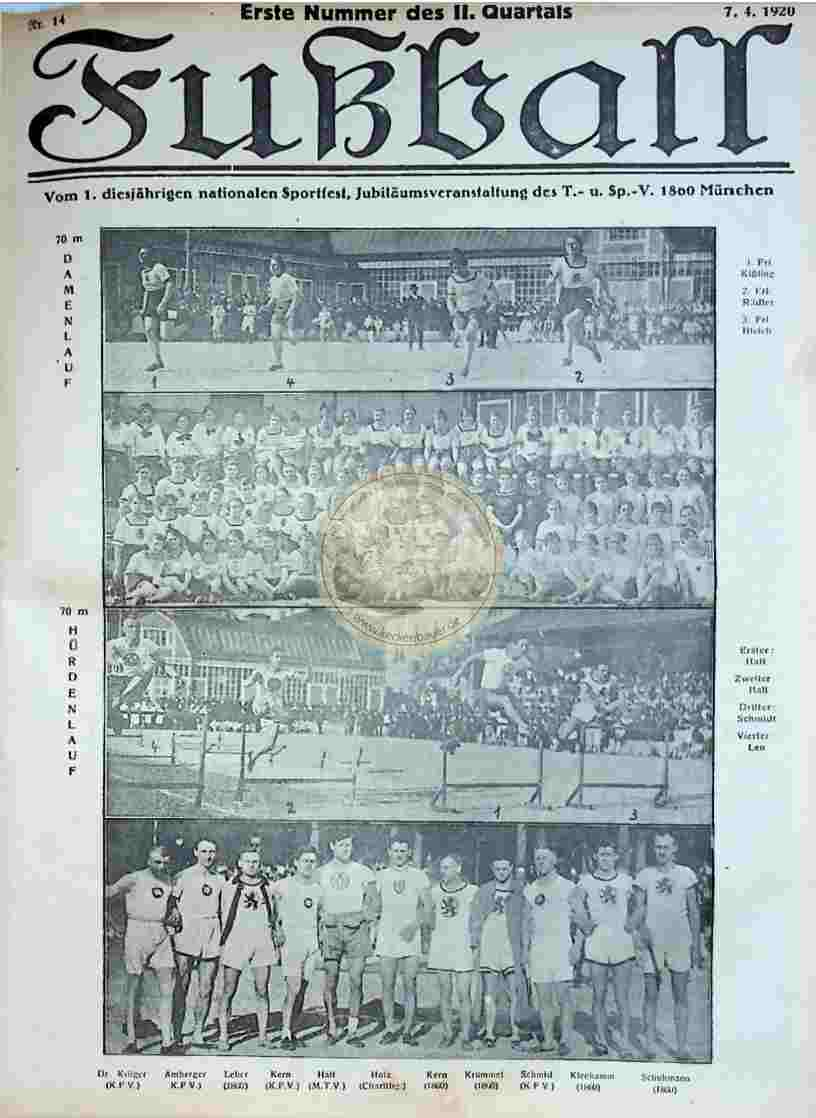 1920 April 7. Fußball Nr.14