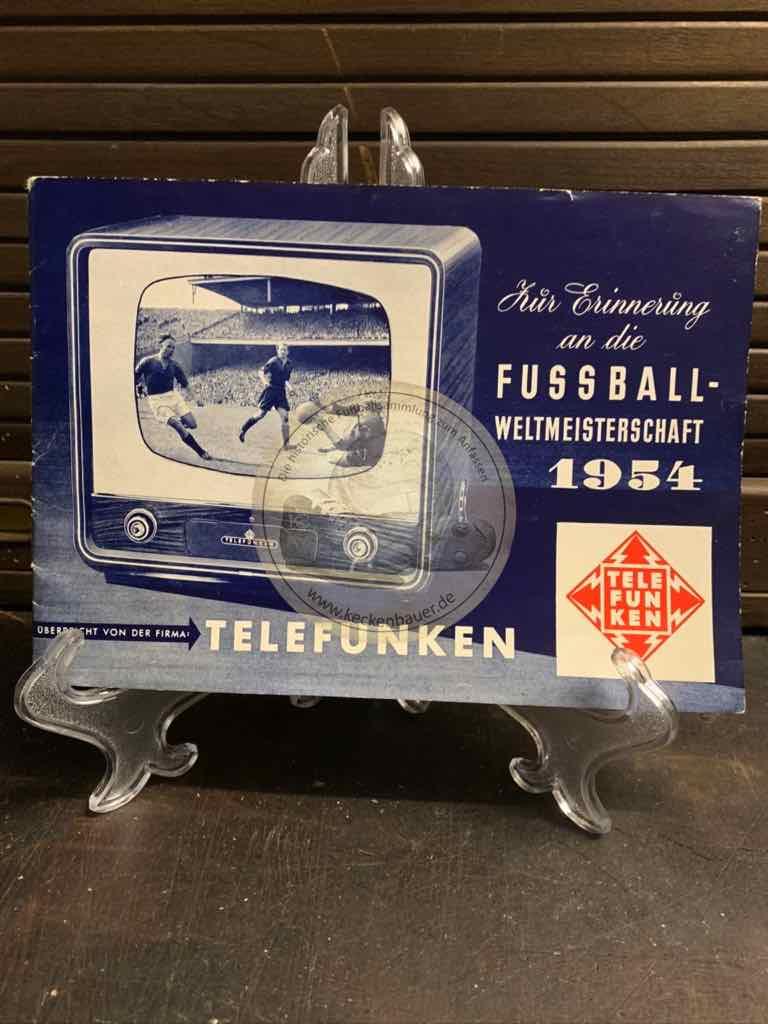 """""""Sammelalbum"""" Werbebroschüre der Firma Telefunken mit zwei beigelegten Postkarten"""