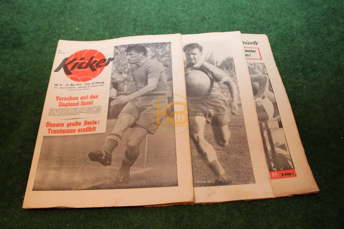 Kicker vom 22.05.1956, 22.11.1956 und 25.07.1960.