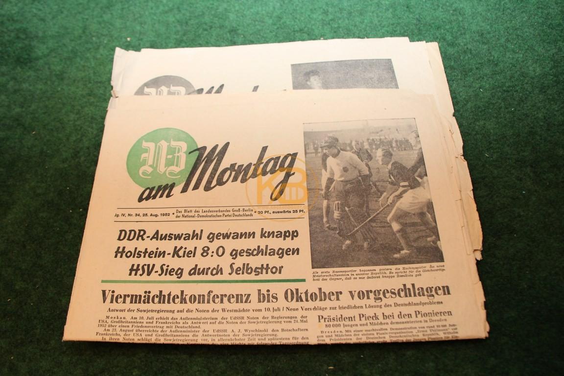 N-Z am Montag vom 25.08.1952 und 1.09.1952.