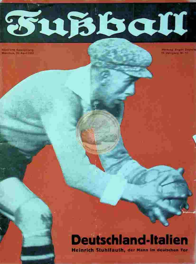 1929 April 23. Fußball Nr. 17