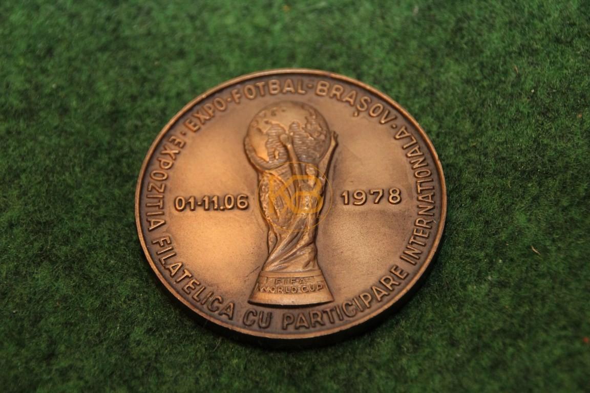Erinnerungsmedaile zur WM 1978 in Argentinien. 1/2