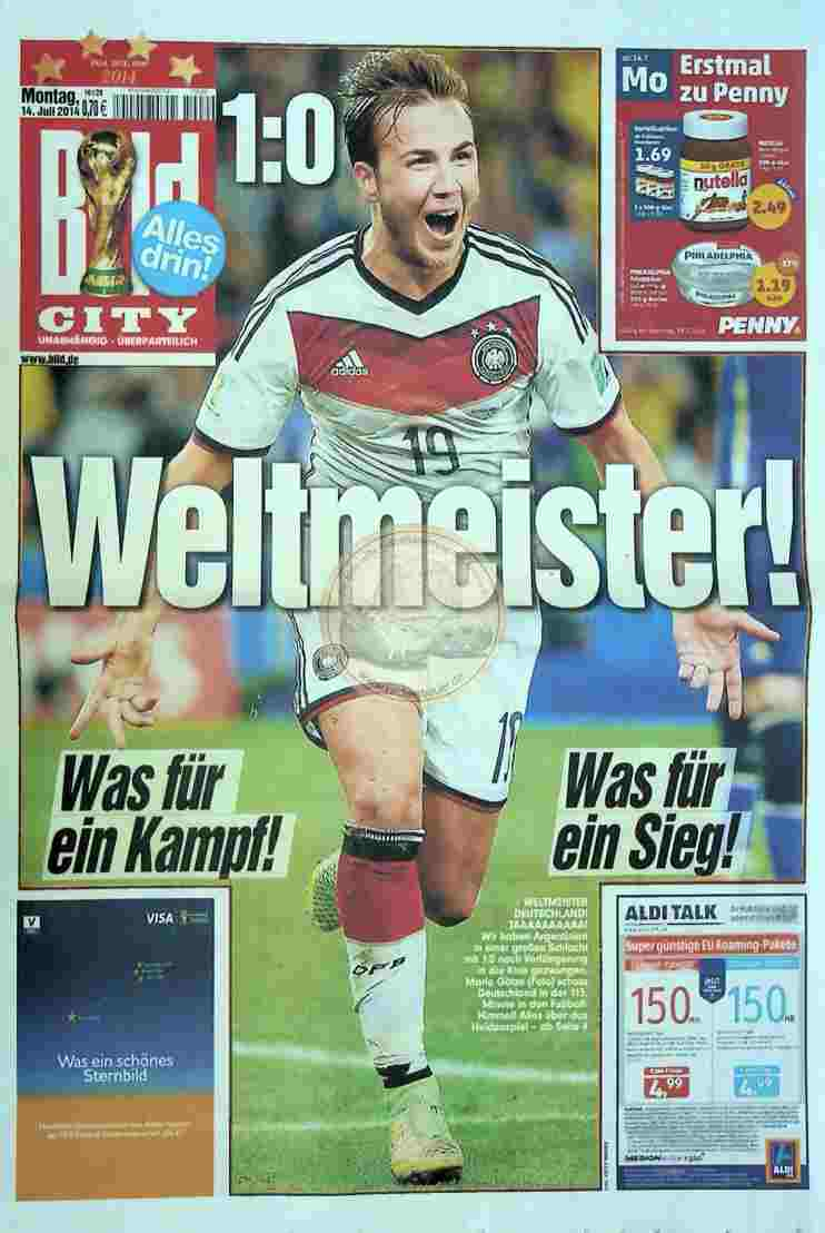 2014 Juli 9. Bildzeitung City Ausgabe