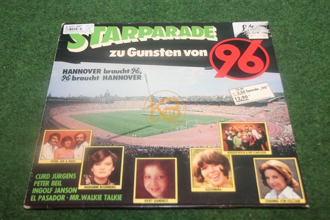 Alte Schallplatte von Hannover 96 aus den 70er Jahren als Spendenaufruf für Hannover 96.