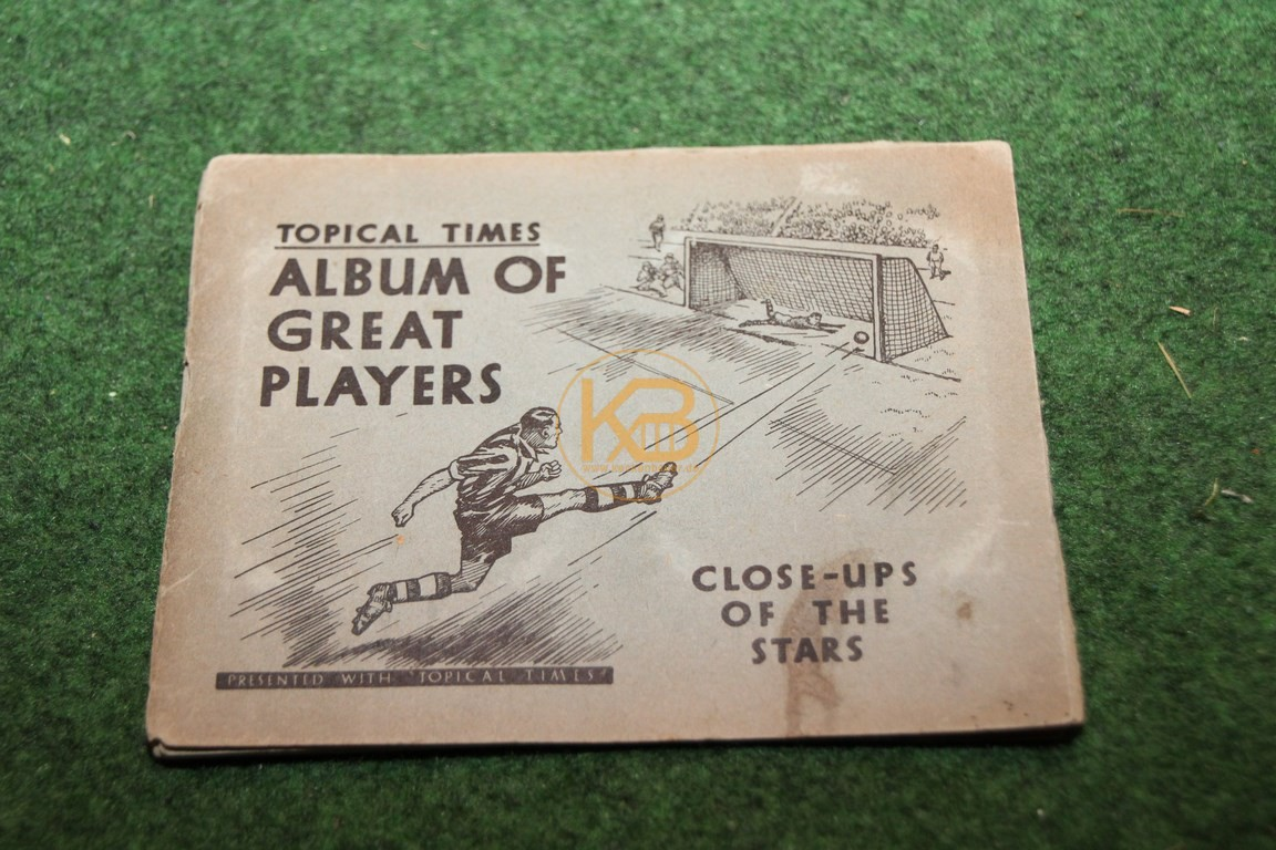 Sammelalbum Topical Times Album of Great Players aus England aus den 1930igern.