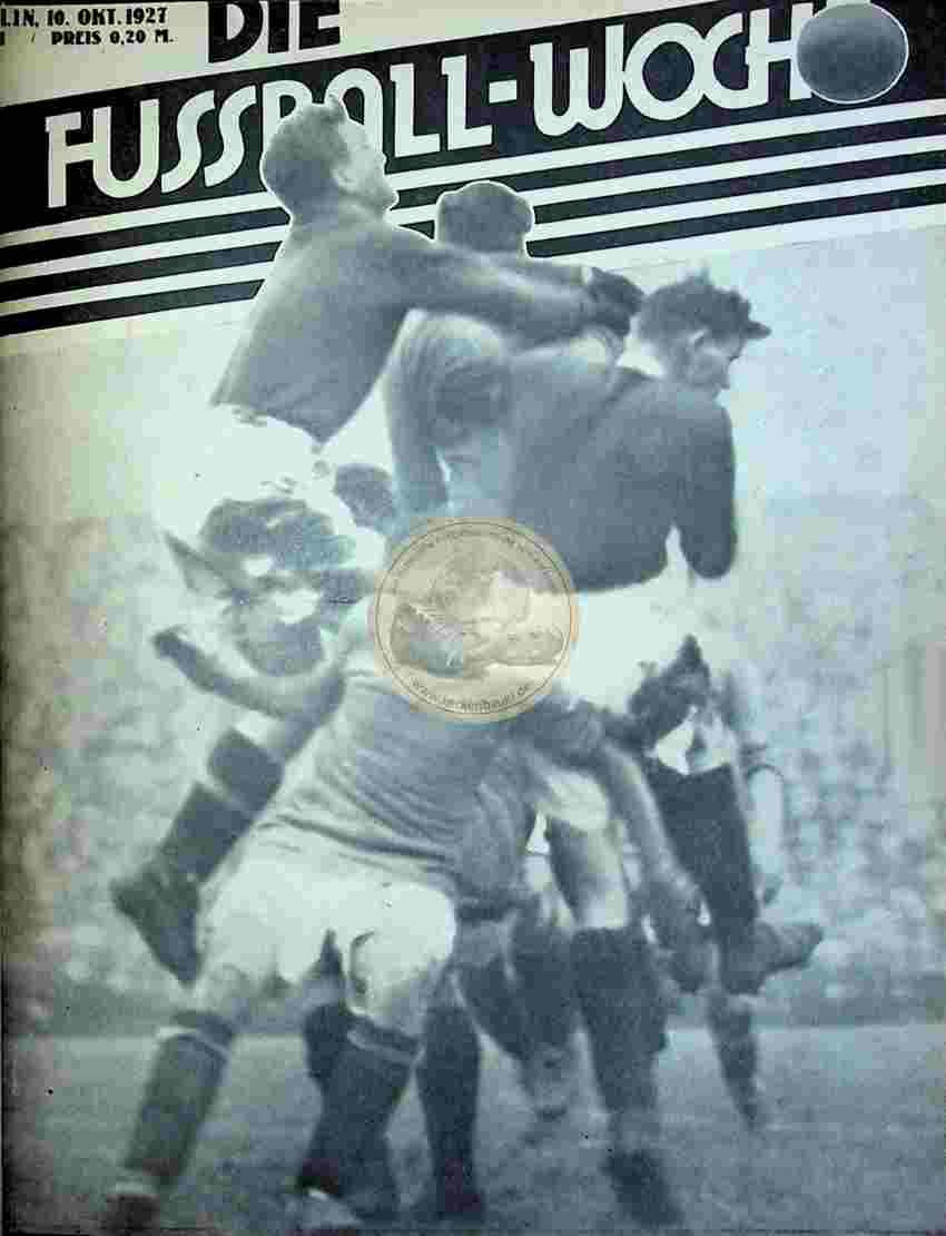 1927 Oktober 10. Fussball-Woche Nr. 81