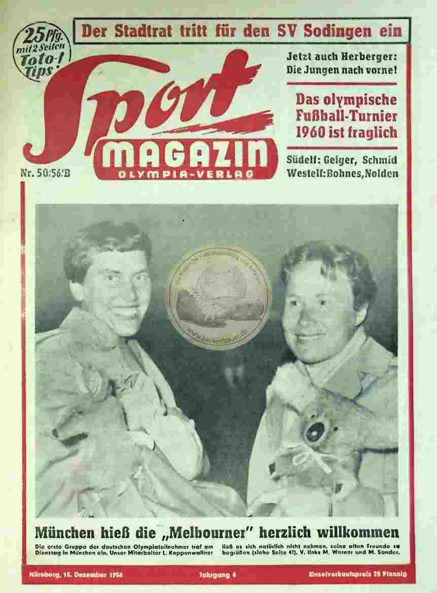 1956 Dezember 13. Sport Magazin Nr. 50