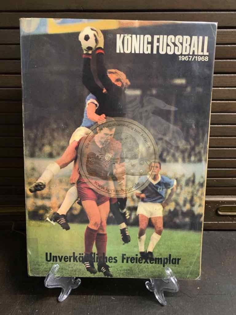 """König Fußball 1967/68. Sammelbilder-Eikon aus dem Jahr 1967 """"unverkäufliches Freiexemplar"""