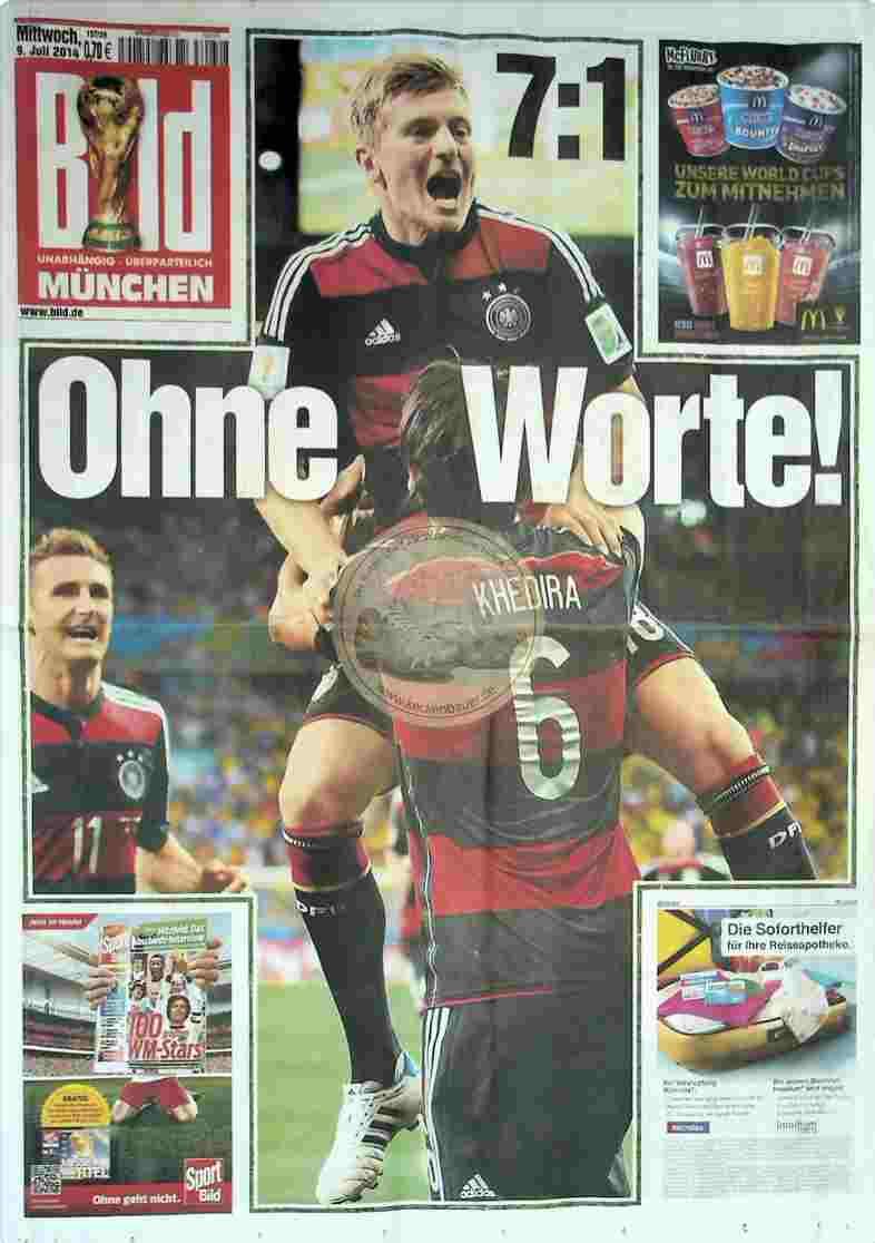 2014 Juli 9. Bildzeitung