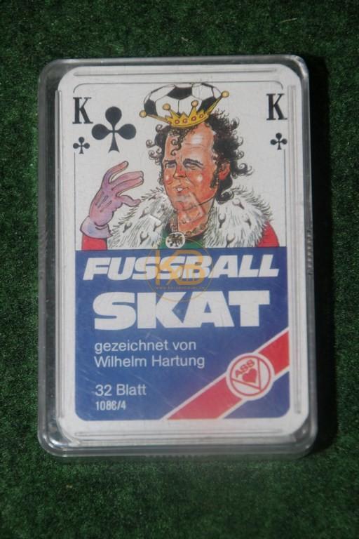 Fussball Skat mit tollen Karikaturen einiger Alt Stars.