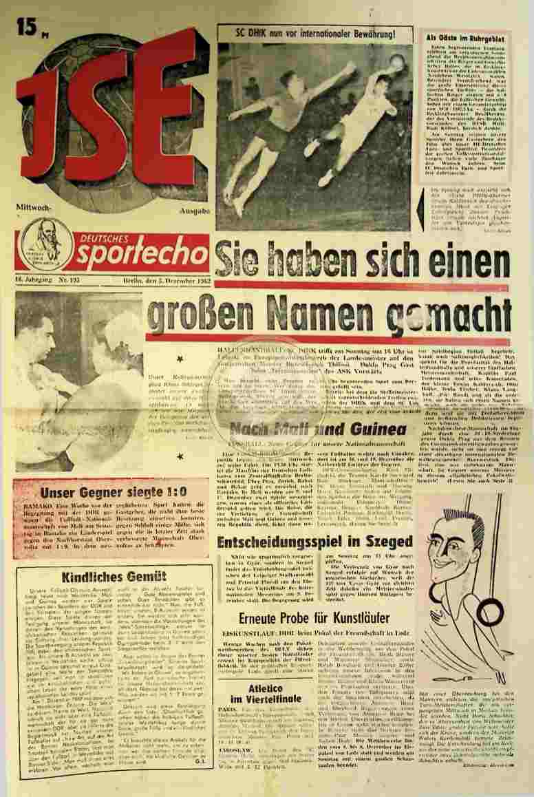 1962 Dezember 5. Sportecho JSE Ausgabe Nr. 195