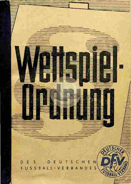 1963 Wettspielordnung des Deutschen Fussball Verbandes