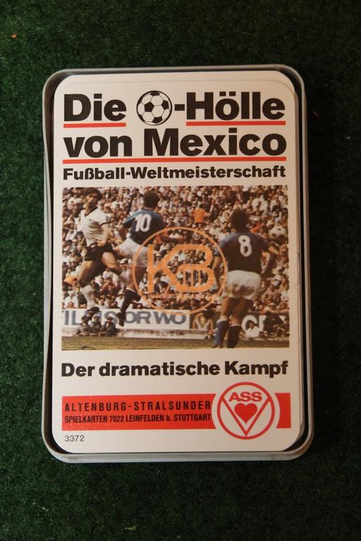 Altenburg - Stralsund Spielkarten 7022 Leinfelden Stuttgart ASS Die Fussball Hölle von Mexico Fußball Weltmeisterschaft