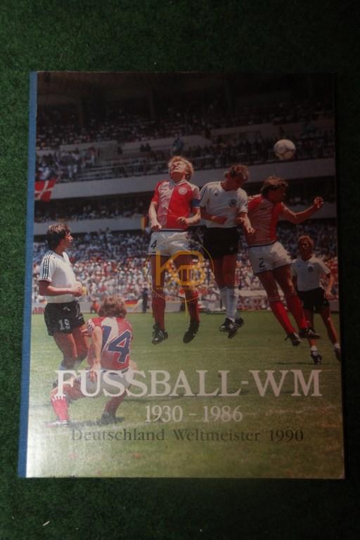 Sammelalbum Fußball WM 1930 - 1986 Deutschland Weltmeister 1990 komplett aber ungeklebt.