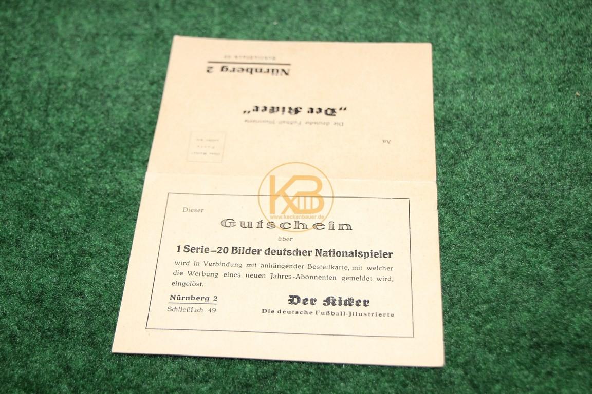 Bestellkarte für den Kicker aus der NS Zeit 2/2
