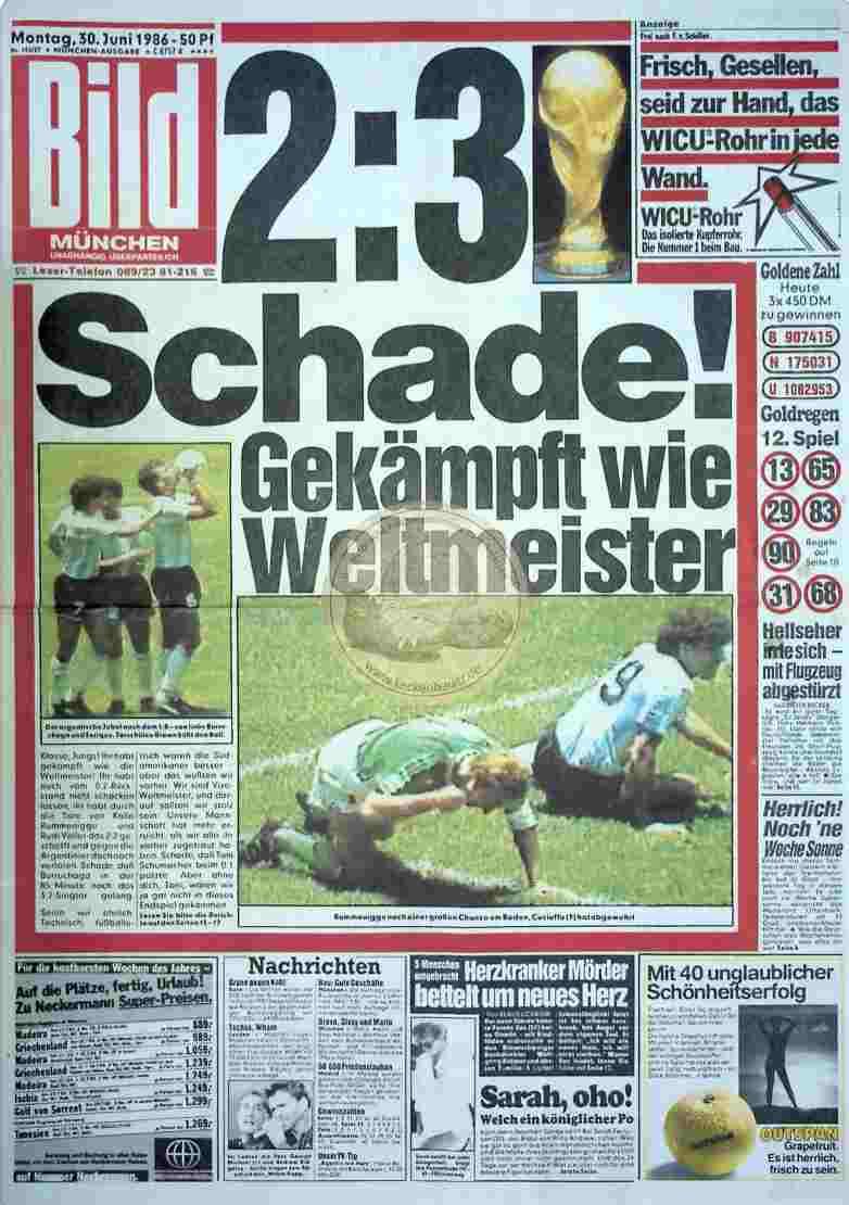 1986 Juni 30. Bildzeitung München