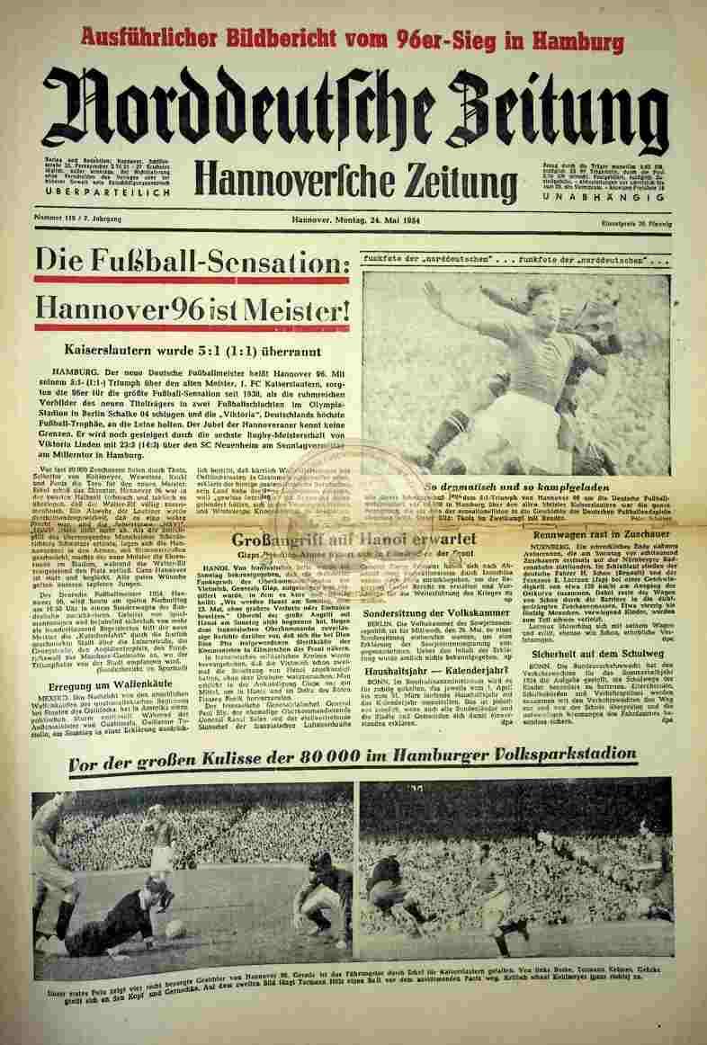 1954 Mai 24. Norddeutsche Zeitung Nr.119