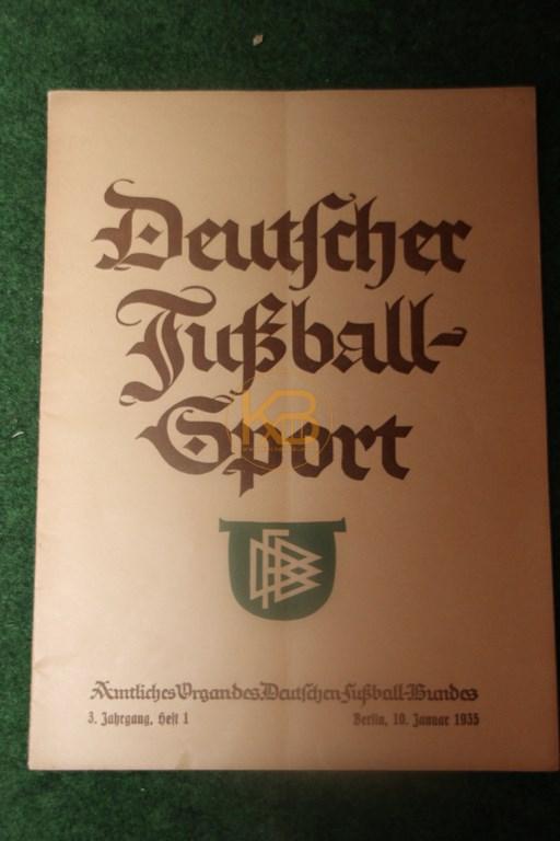 Deutscher Fußballsport Heft 1 vom 10.01.1935