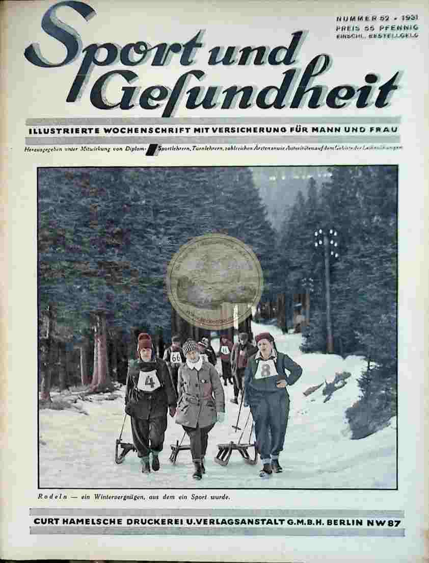 1931 Sport und Gesundheit Nr. 52