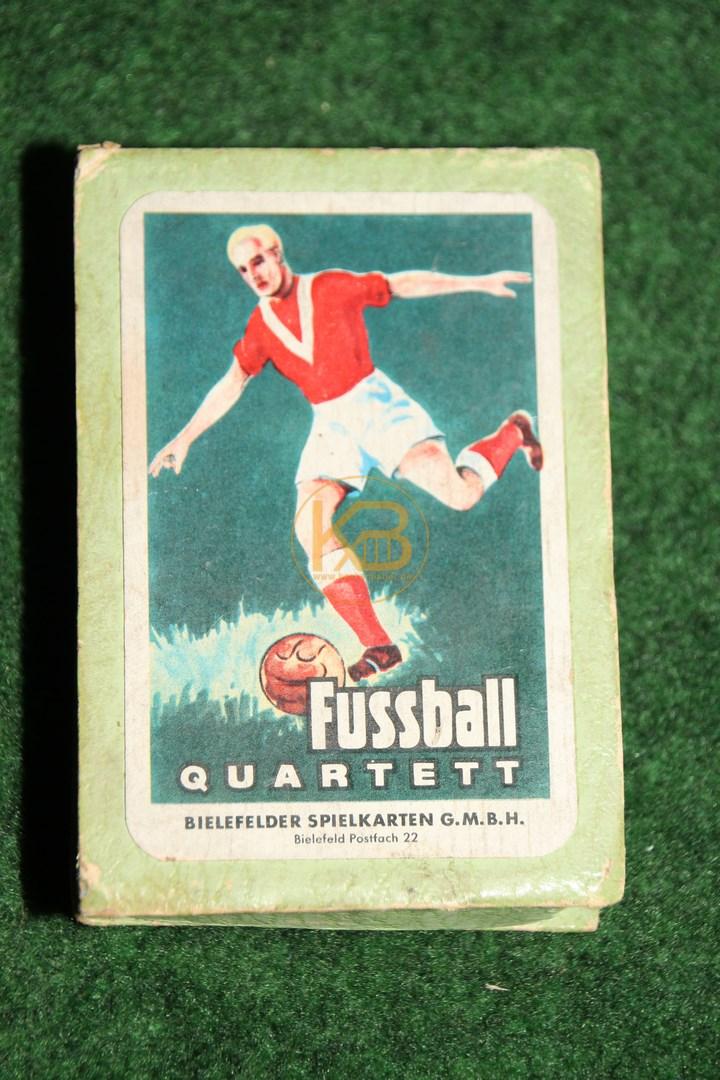 Fussball Quartett von der Bielefelder Spielkarten GmbH vermutlich 1958