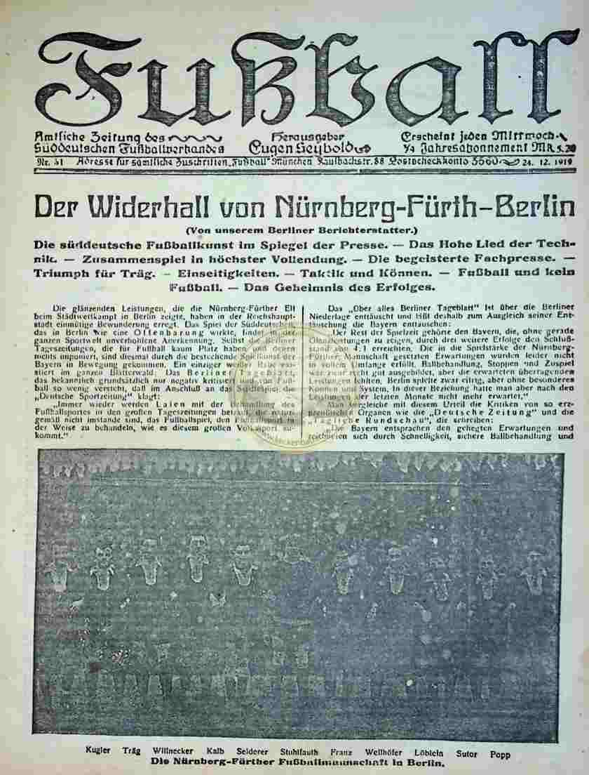 1919 Dezember 24. Fußball Nr.51