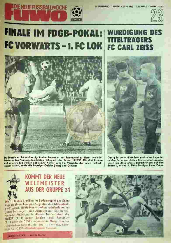 1970 Juni 9. Die neue Fussballwoche fuwo Nr. 23