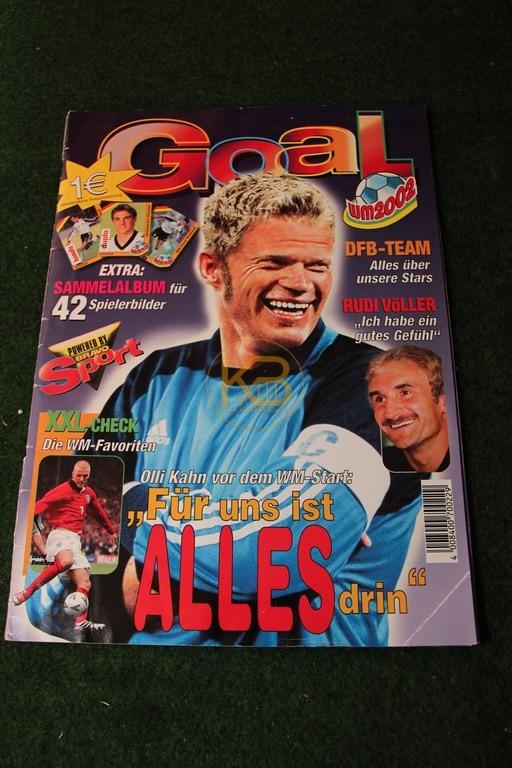 Goal Sammelheft von der WM 2002, leider fehlen im Heft Nr 16+17 (Schneider + Jeremies)  und auf dem Poster Ramelow, Jeremies, Schneider, Ballack, Asamoah und Neuville. Kann wer helfen?
