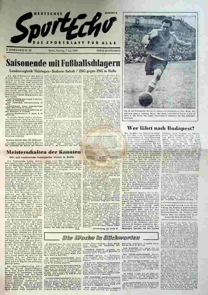 1949 Juli 1. Sportecho Nr. 52