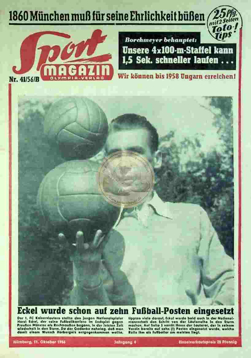 1956 Oktober 11. Sport Magazin Nr. 41