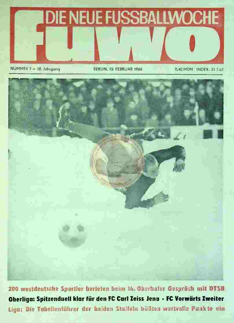 1966 Februar 15. Die neue Fussballwoche fuwo Nr. 7