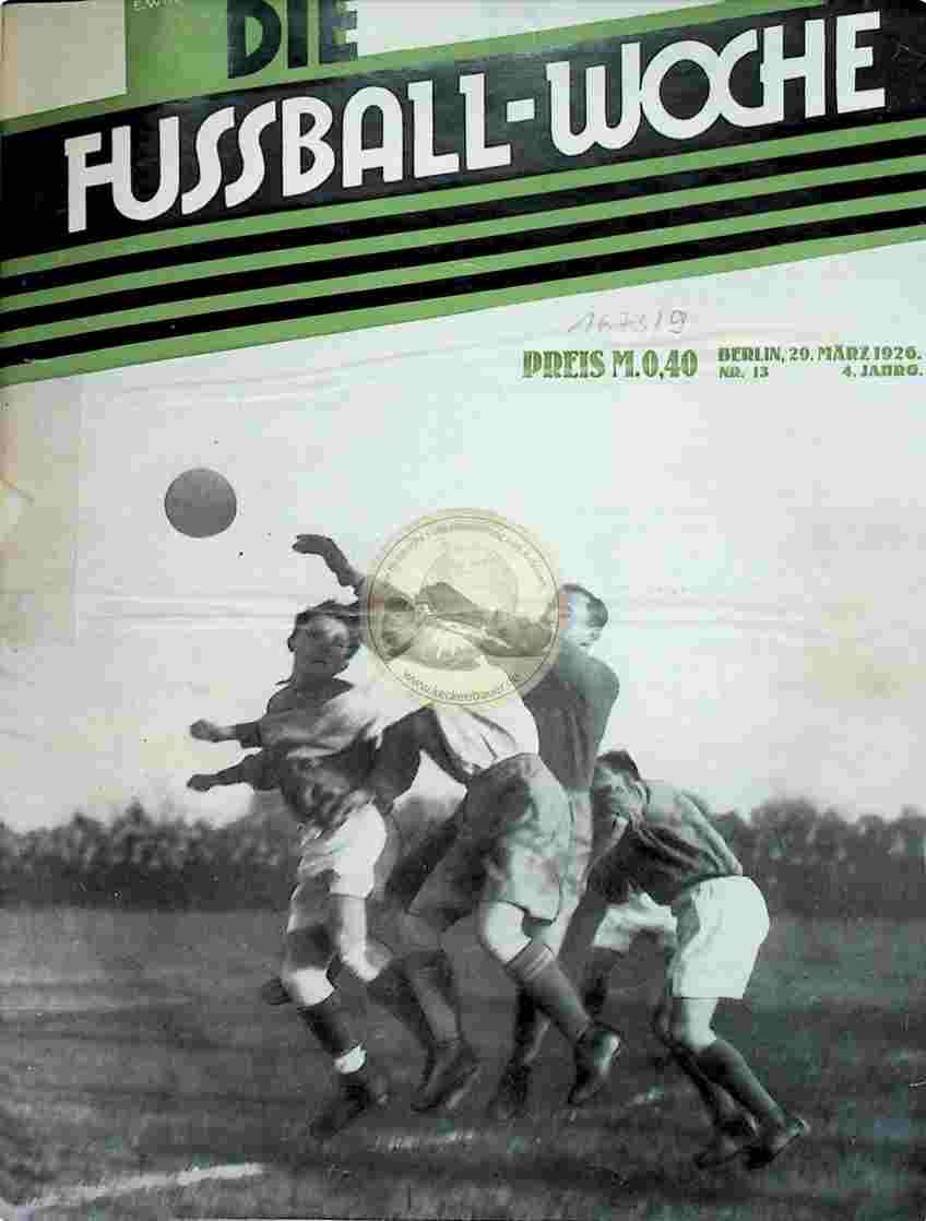 1926 März 29. Fussball-Woche Nr. 13