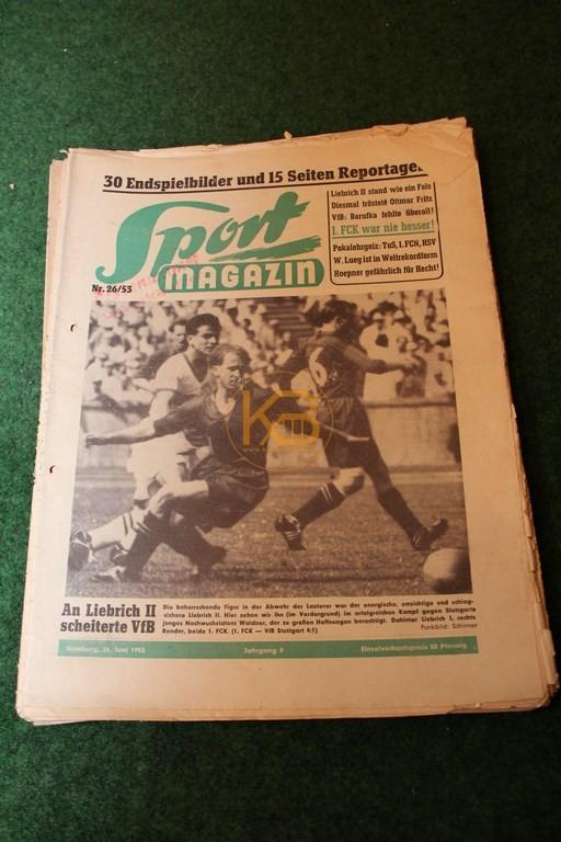 Sport Magazin aus dem Zeitraum 24.06.1953 - 20.12.1956 22 Ausgaben