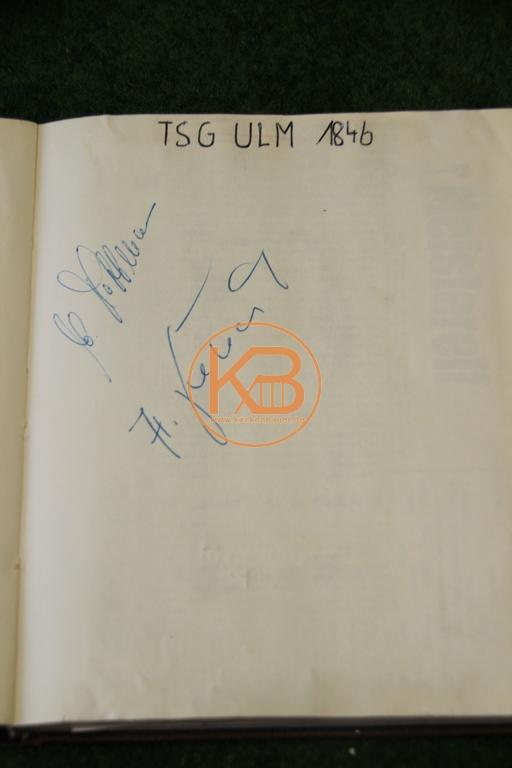 Original Autogramme von der TSG Ulm 1846 aus dem Jahr 1963