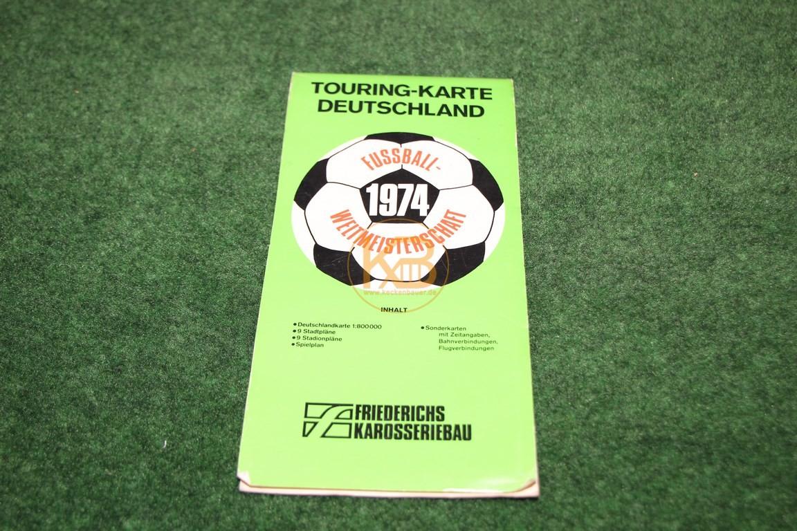 Touring-Karte Deutschland Fussball Weltmeisterschaft 1974