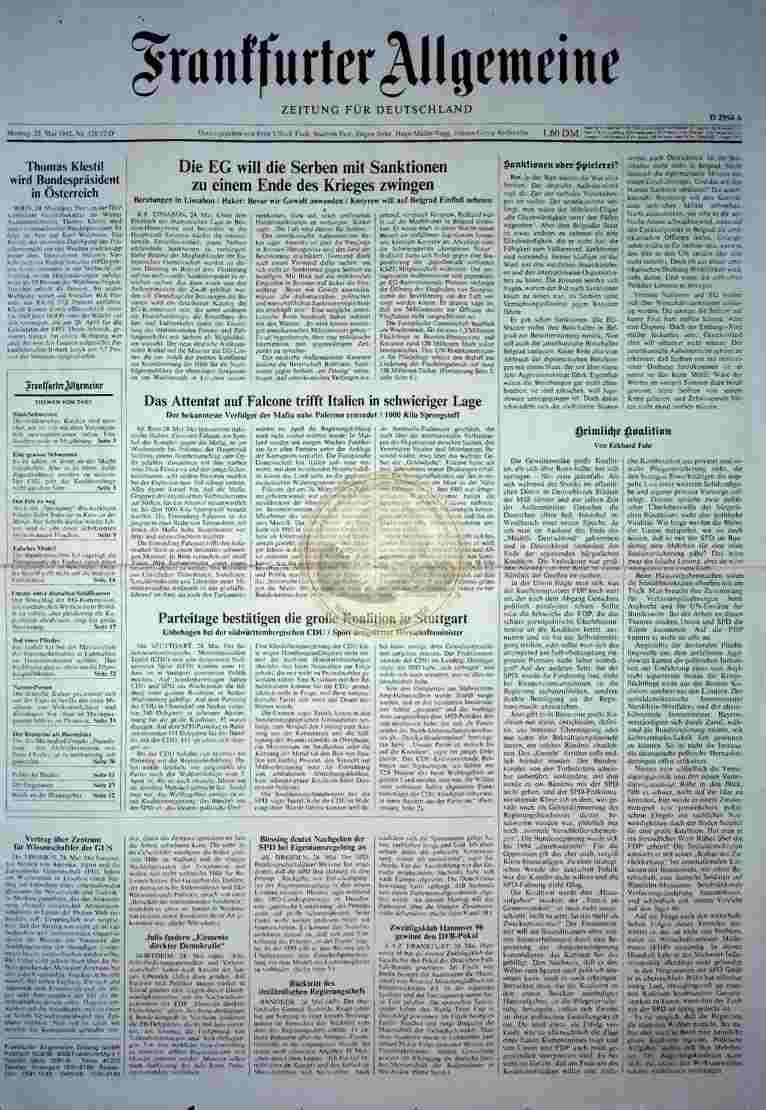 1992 Mai 25. FAZ (Auszug)